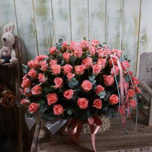웨딩데이100송이꽃바구니 상품이미지