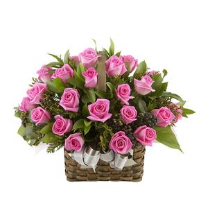 분홍꽃바구니 상품이미지