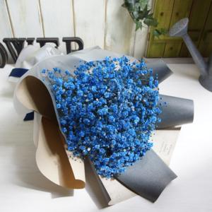 안개꽃다발(블루) 상품이미지