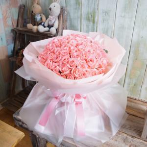 분홍꽃다발(100송이)