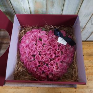 꽃박스 핑크(100송이) 상품이미지